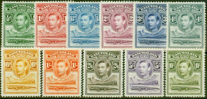 Valuable Postage Stamp from Basutoland 1938 set of 11 SG18-28 V.F Lightly Mtd Mint