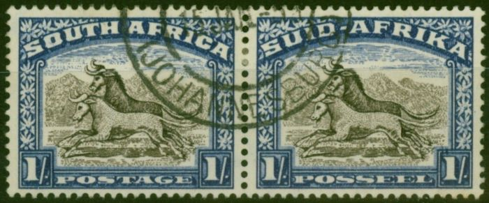 Valuable Postage Stamp from South Africa 1952 1s Blackish Brown & Ultramarine SG120a V.F.U