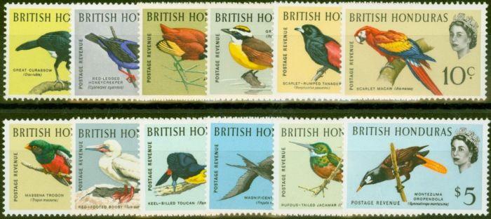 Valuable Postage Stamp from British Honduras 1962 Birds set of 12 SG202-213 Fine Mtd Mint
