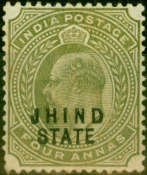 Jind 1903 4a Pale Olive SG50 Good Mtd Mint
