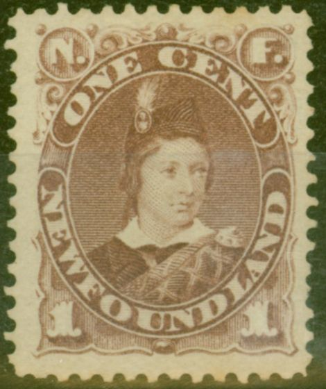 Collectible Postage Stamp from Newfoundland 1880 1c Red-Brown SG44b Fine Mtd Mint
