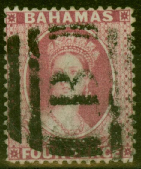 Valuable Postage Stamp from Bahamas 1882 4d Rose SG43x Wmk Reversed Fine Used