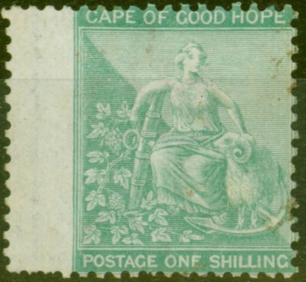 Valuable Postage Stamp from Cape of Good Hope 1864 1s Green SG26a Good Mtd Mint