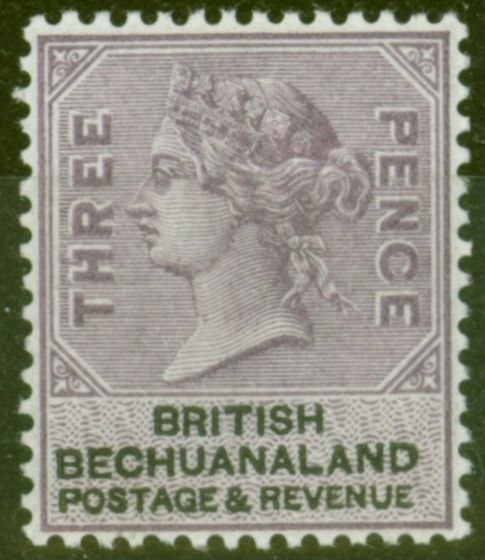 Rare Postage Stamp from Bechuanaland 1888 4d Reddish  Lilac & Black SG12a V.F Very Lightly Mtd Mint