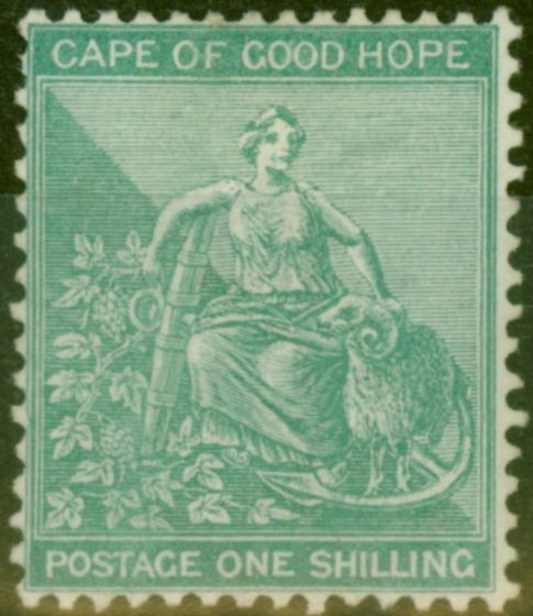 Collectible Postage Stamp from Cape of Good Hope 1889 1s Blue-Green SG53a Fine & Fresh Unused