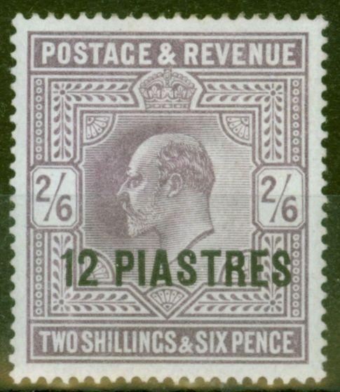British Levant 1903 12pi on 2s6d Lilac SG11 Fine & Fresh Lightly Mtd Mint.