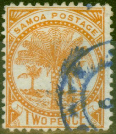 Valuable Postage Stamp from Samoa 1886 2d Dull Orange SG23 Fine Used (6)
