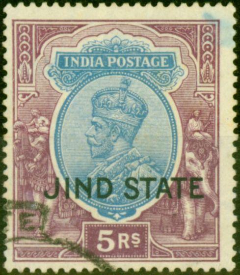 Jind 1928 5R Ultramarine & Purple SG100 Fine Used