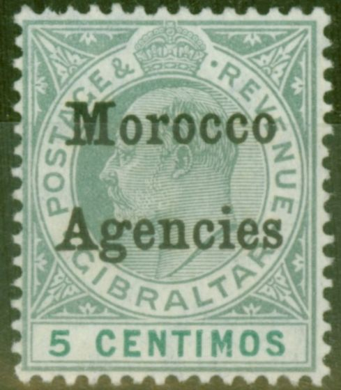 Old Postage Stamp from Morocco Agencies 1905 5c Grey-Green & Green SG24 V.F MNH