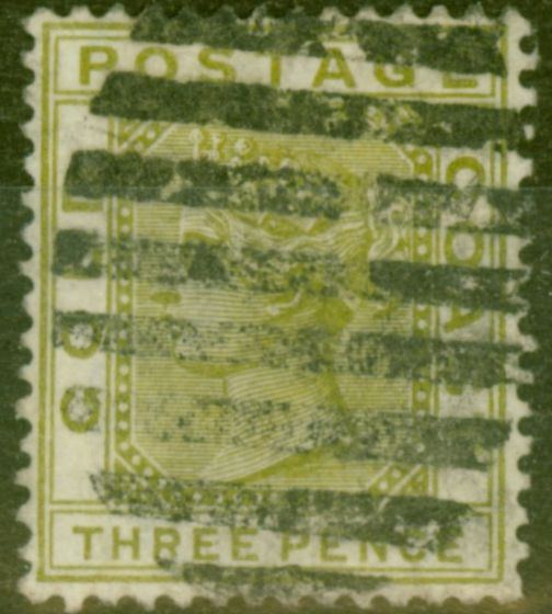 Collectible Postage Stamp from Gold Coast 1884 3d Olive SG15a Good Used