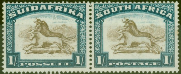 Collectible Postage Stamp from South Africa 1932 1s Brown & Dp Blue SG48 Wmk Upright V.F Lightly Mtd Mint