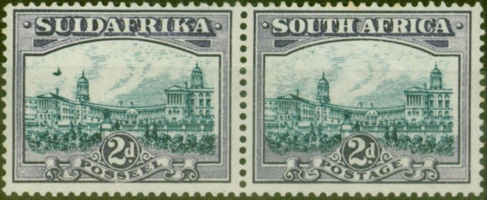 Collectible Postage Stamp from South Africa 1938 2d Blue & Violet SG44ea Airship Flaw Fine Mtd Mint