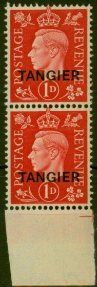 Old Postage Stamp from Tangier 1937 1d Scarlet SG246 V.F MNH Vert Pair