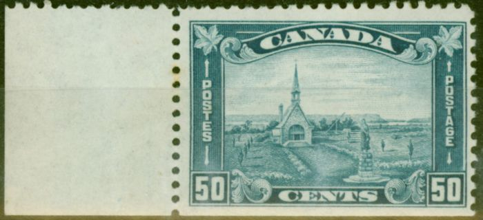 Valuable Postage Stamp from Canada 1930 50c Blue SG302var Imperf at Base V.F Lightly Mtd Mint