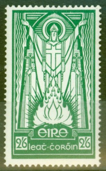 Old Postage Stamp from Ireland 1937 2s6d Emerald Green SG102 Fine & Fresh Mtd Mint