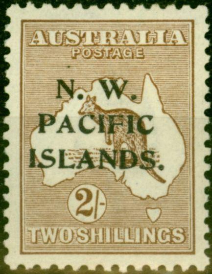 New Guinea 1916 2s Brown SG97w (B) Wmk Inverted Fine & Fresh Mtd Mint