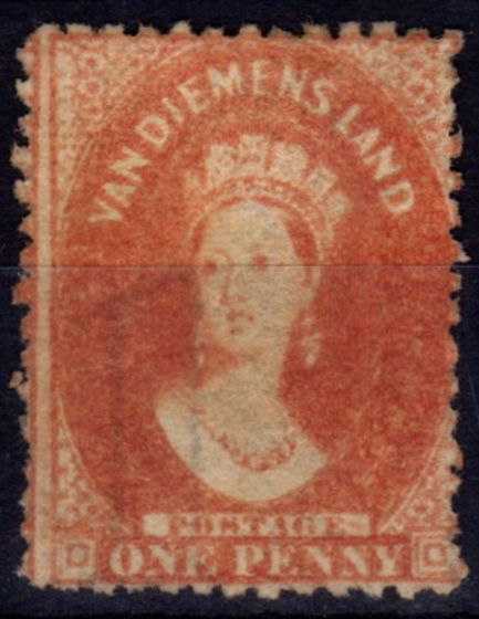Collectible Postage Stamp from Tasmania 1864 1d Dull Vermilion SG81 P.12.5 Fine & Fresh Unused