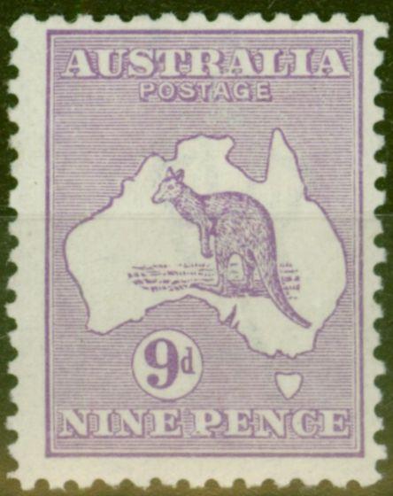 Old Postage Stamp from Australia 1916 9d Violet SG39 V.F Lightly Mtd Mint