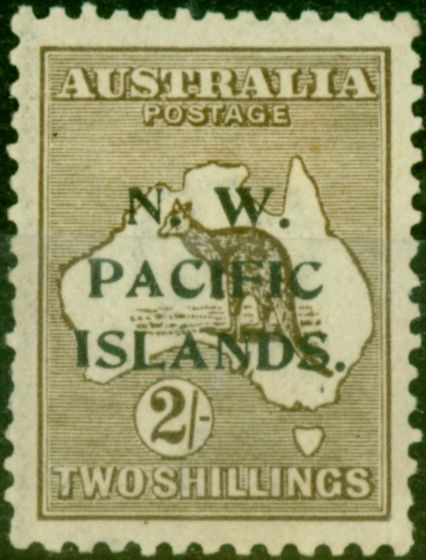 New Guinea 1919 2s Brown SG115 Fine Mounted Mint