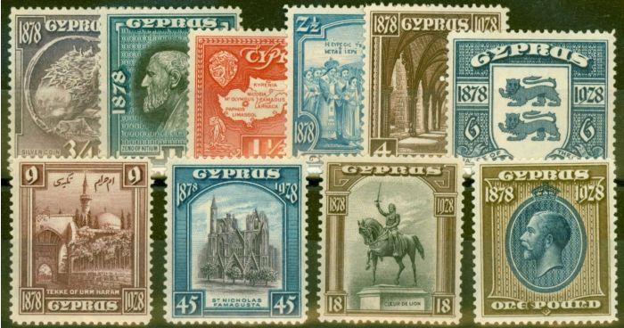 Cyprus 1928 set of 10 SG123-132 Fine Lightly Mtd Mint