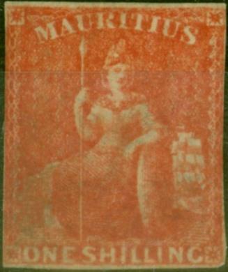 Mauritius 1859 1s Vermilion SG34