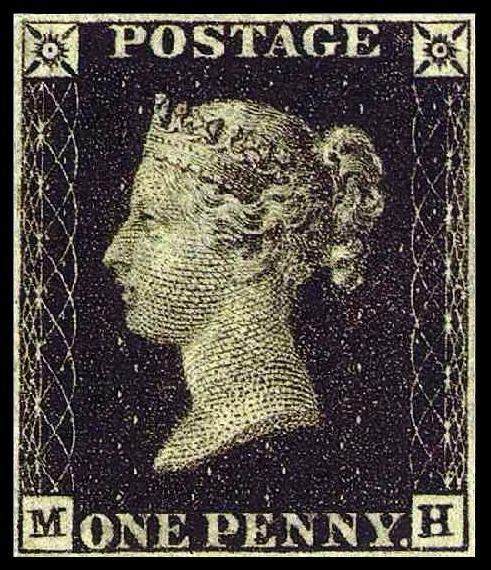 1840 Queen Victoria Penny Black