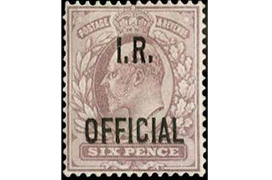1904 King Edward VII 6d Postage stamp