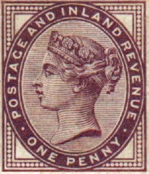 1d Lilac Queen Victoria stamps