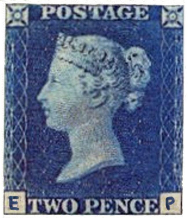 Image of 2d Blue stamp