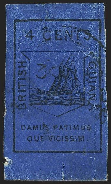 Blue stamp Planographic printed