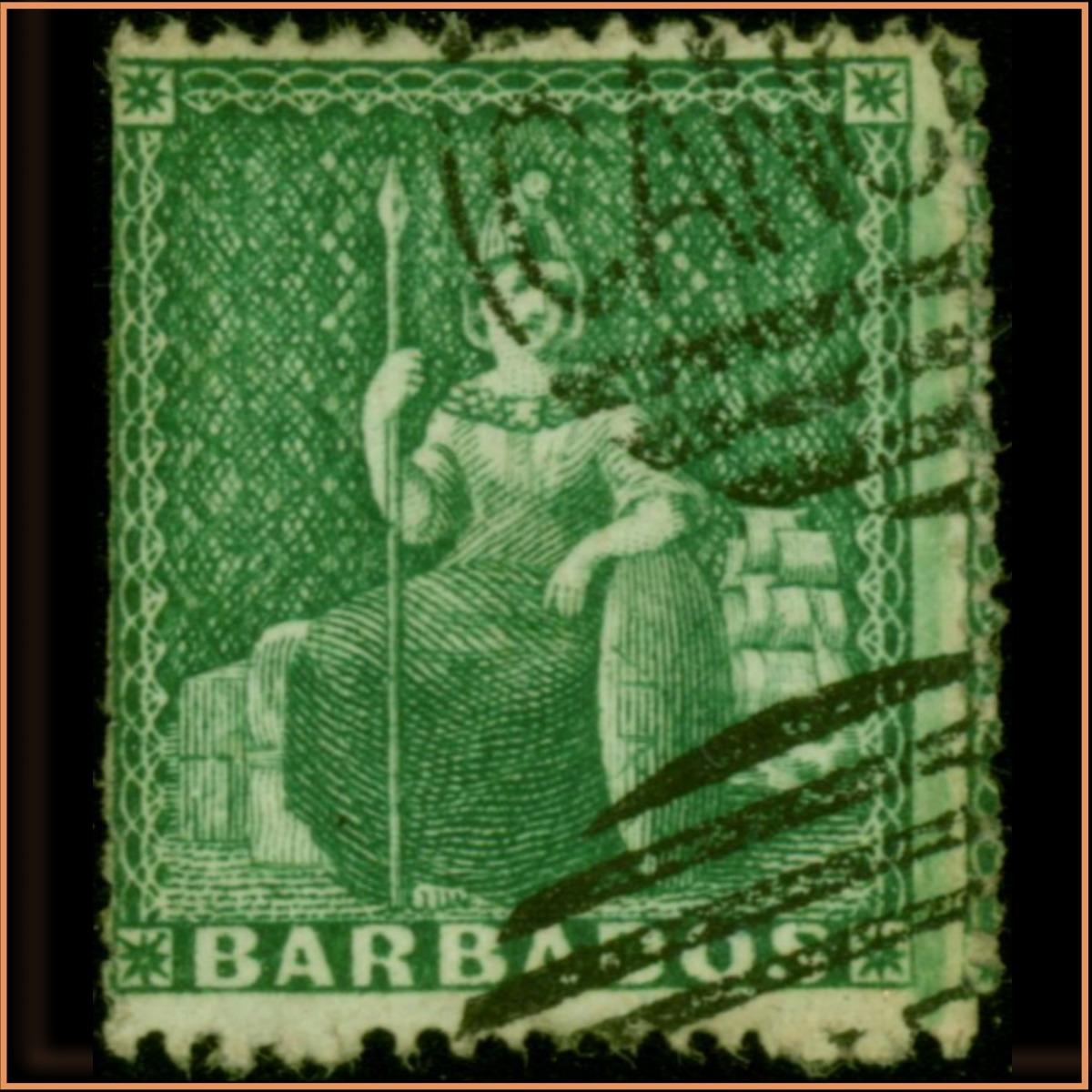 Barbados 1861 1/2d SG17 £7950