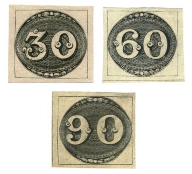 Image of Brazil bulls eye stamps
