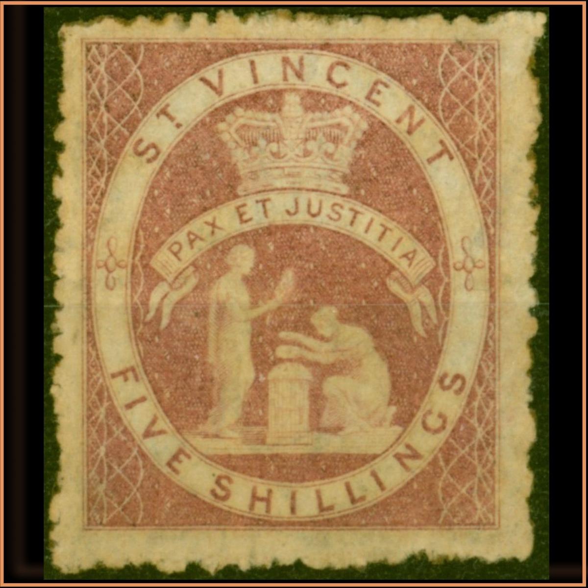 St Vincent 1880 SG32 £445